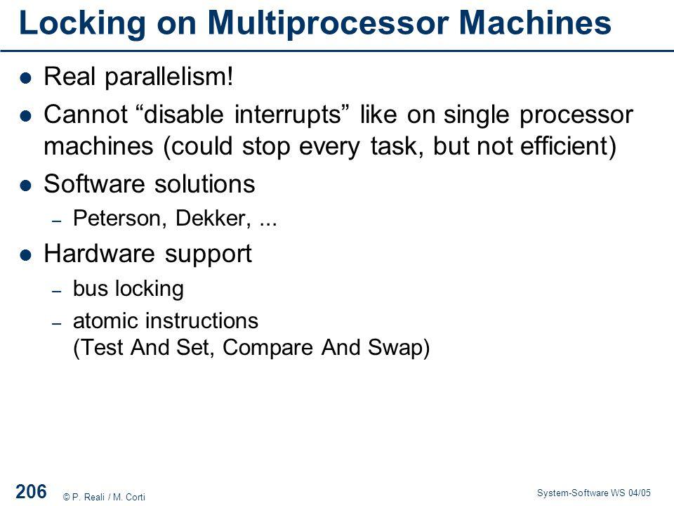 Locking on Multiprocessor Machines