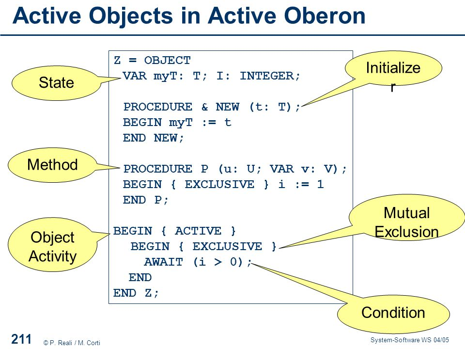 Active Objects in Active Oberon