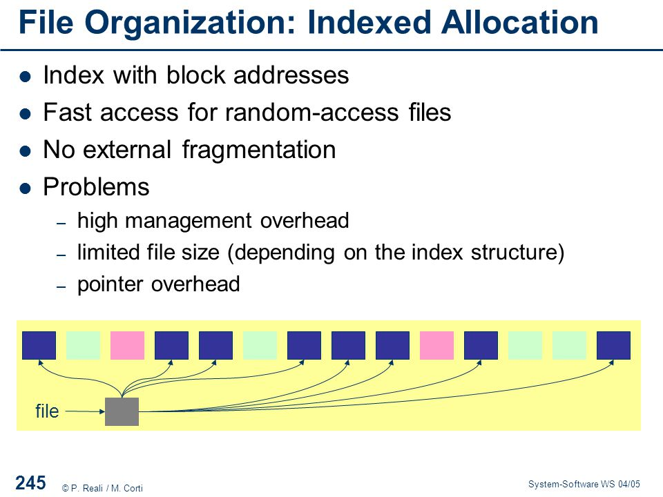 File Organization: Indexed Allocation