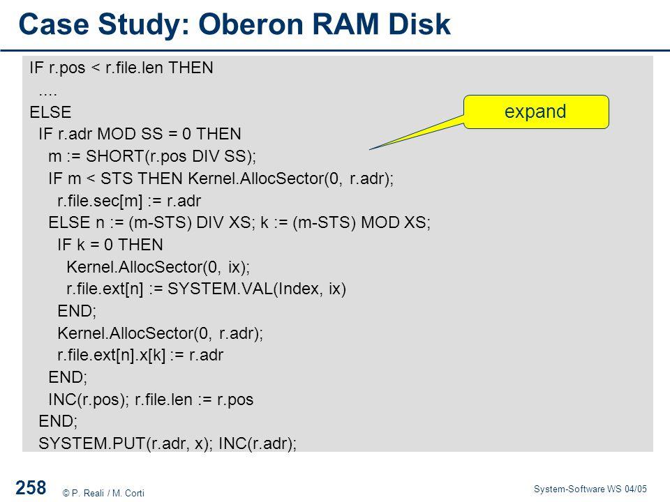 Case Study: Oberon RAM Disk