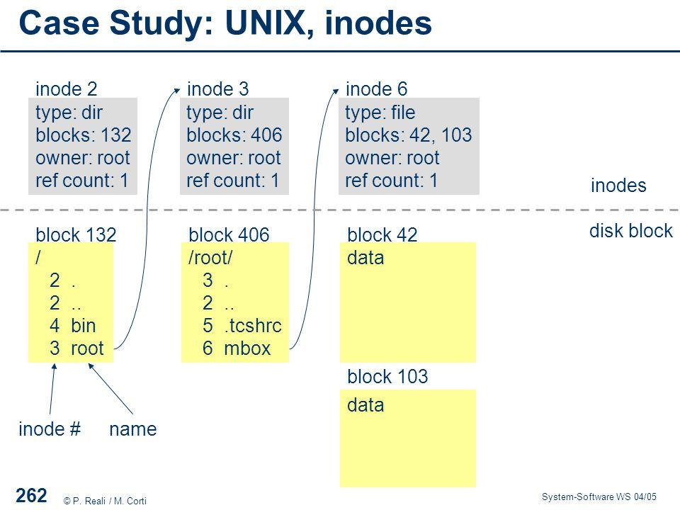 Case Study: UNIX, inodes