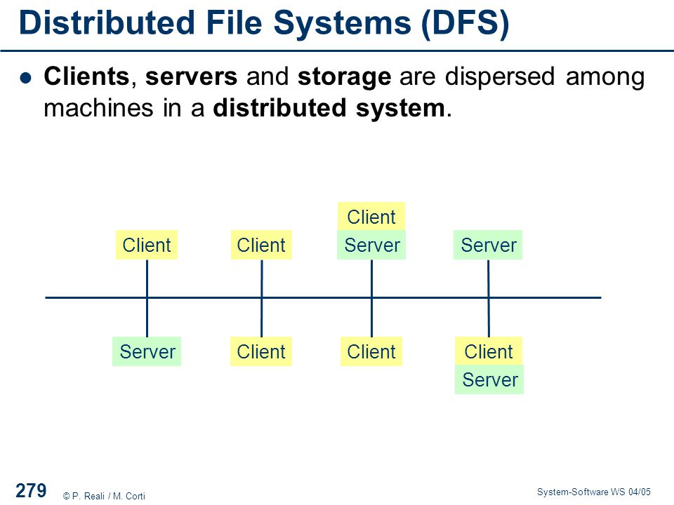 Distributed File Systems (DFS)