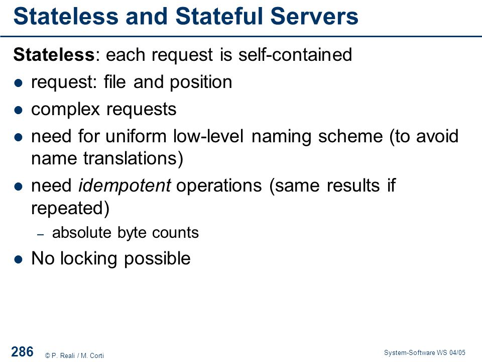 Stateless and Stateful Servers