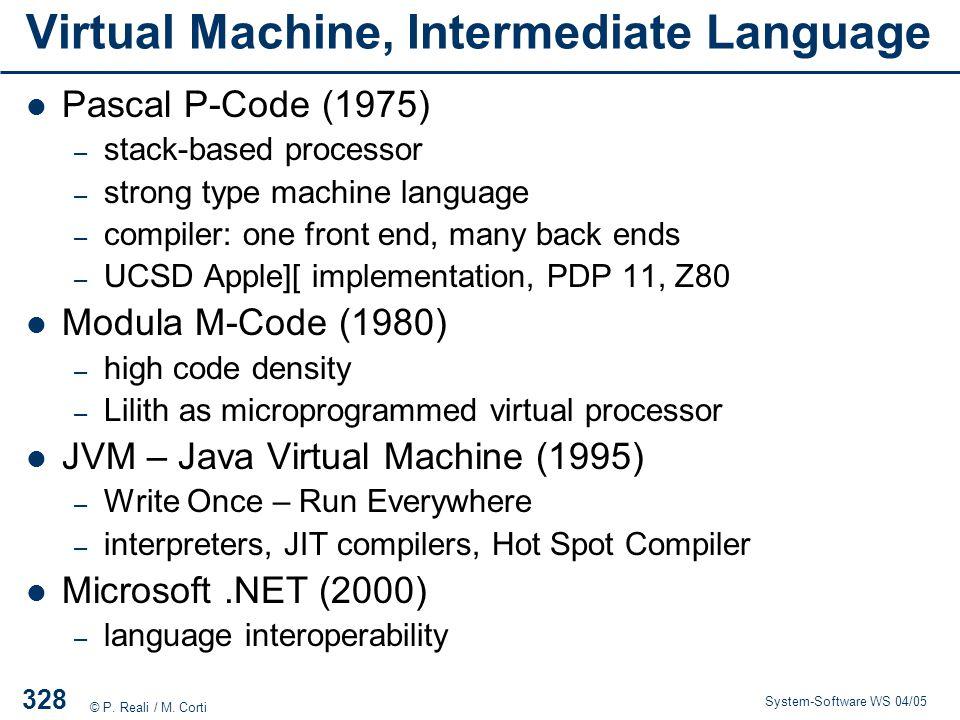 Virtual Machine, Intermediate Language