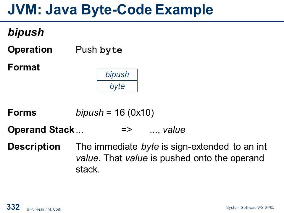 JVM: Java Byte-Code Example