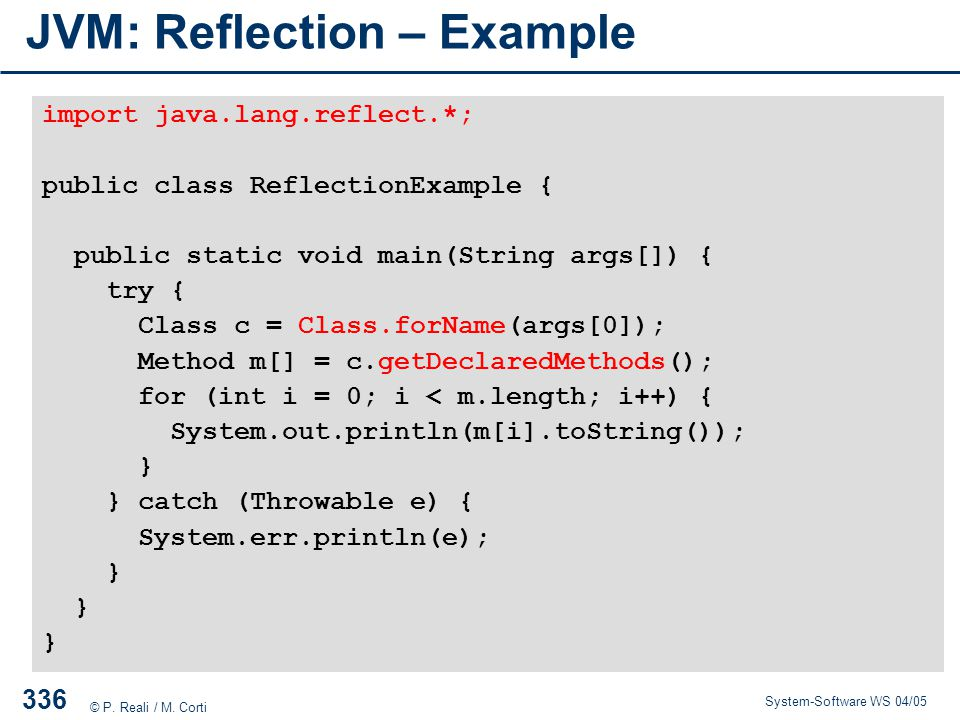 JVM: Reflection – Example
