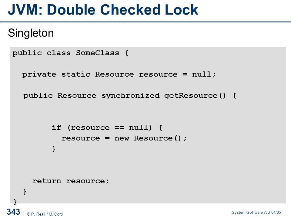 JVM: Double Checked Lock