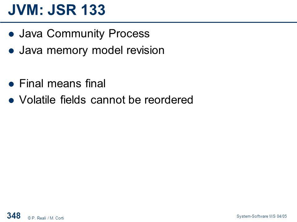JVM: JSR 133 Java Community Process Java memory model revision