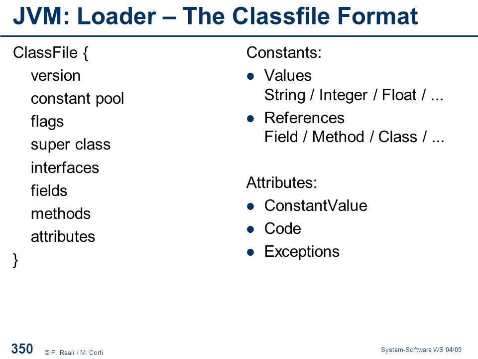 JVM: Loader – The Classfile Format