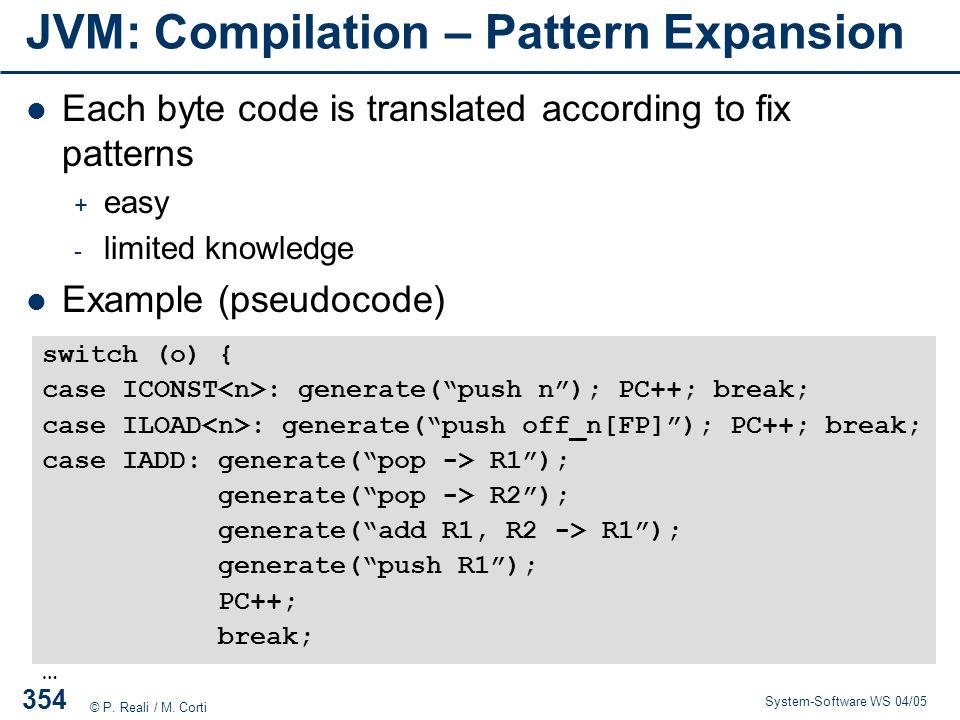 JVM: Compilation – Pattern Expansion
