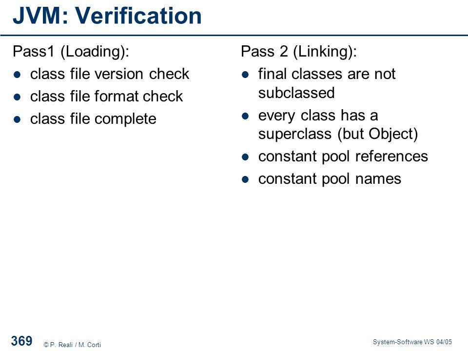 JVM: Verification Pass1 (Loading): class file version check