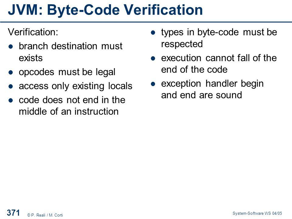 JVM: Byte-Code Verification