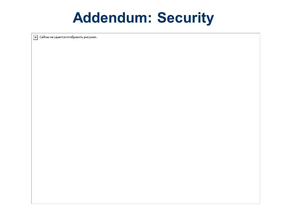 Addendum: Security