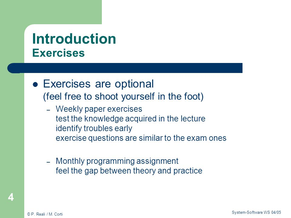 Introduction Exercises