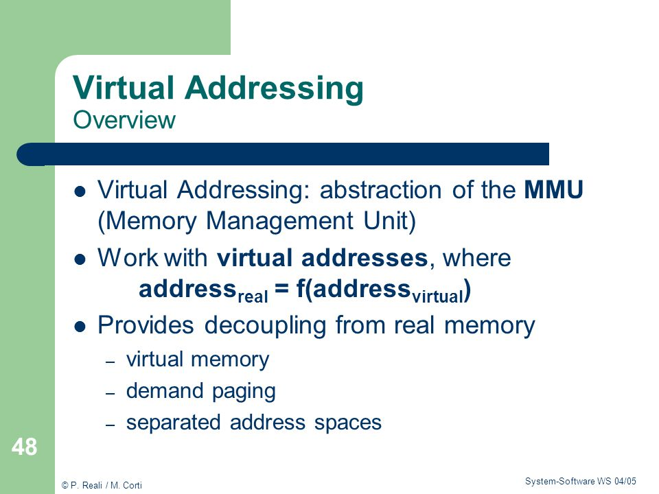 Virtual Addressing Overview