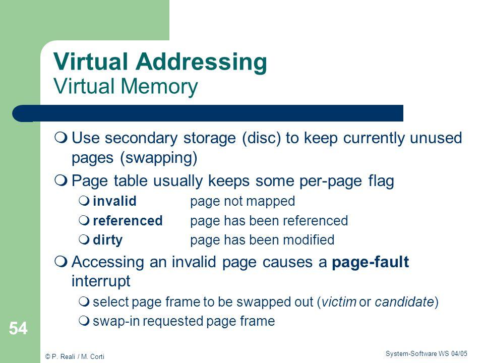 Virtual Addressing Virtual Memory