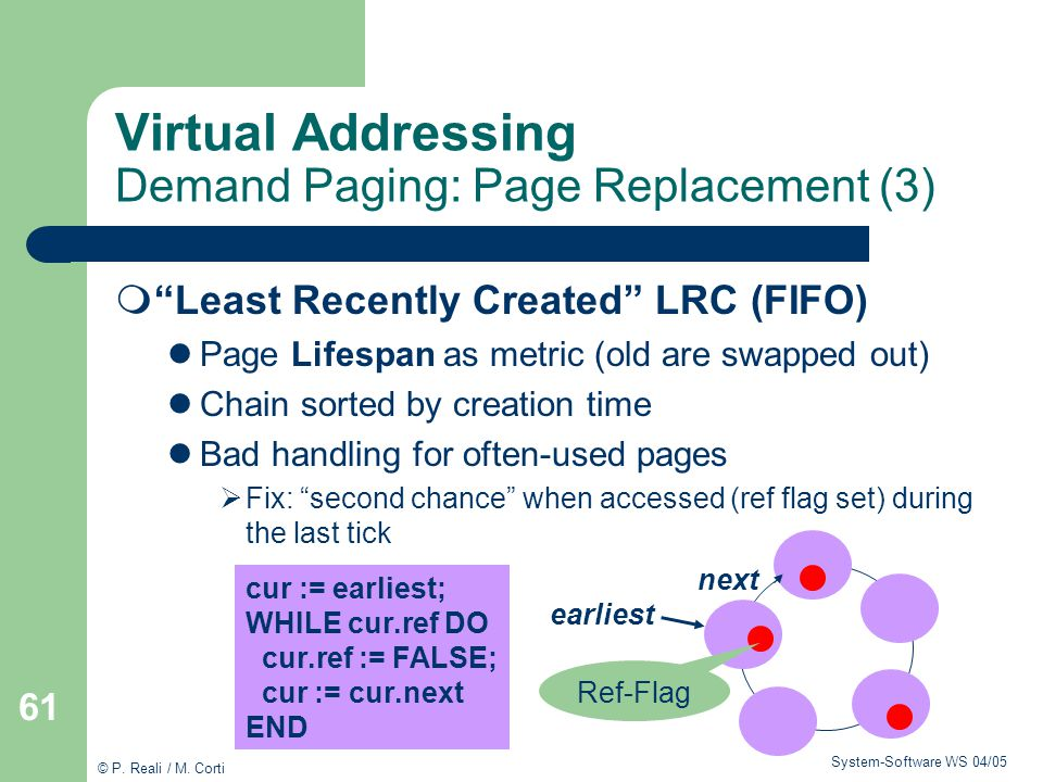 Virtual Addressing Demand Paging: Page Replacement (3)