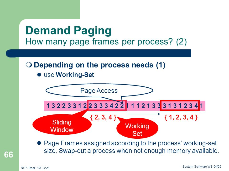 Demand Paging How many page frames per process (2)