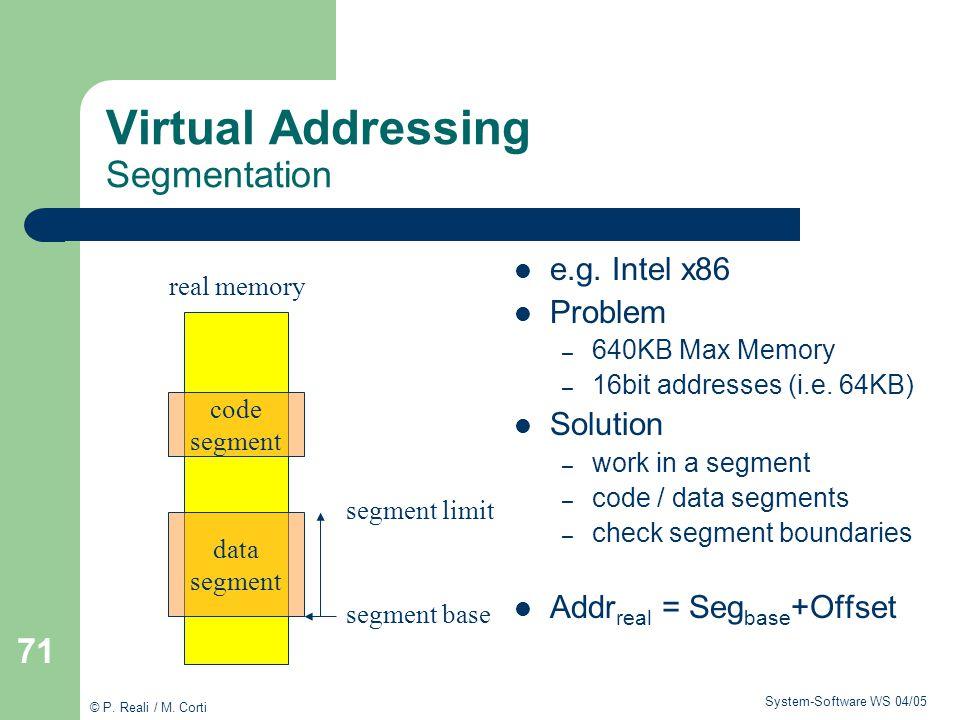 Virtual Addressing Segmentation