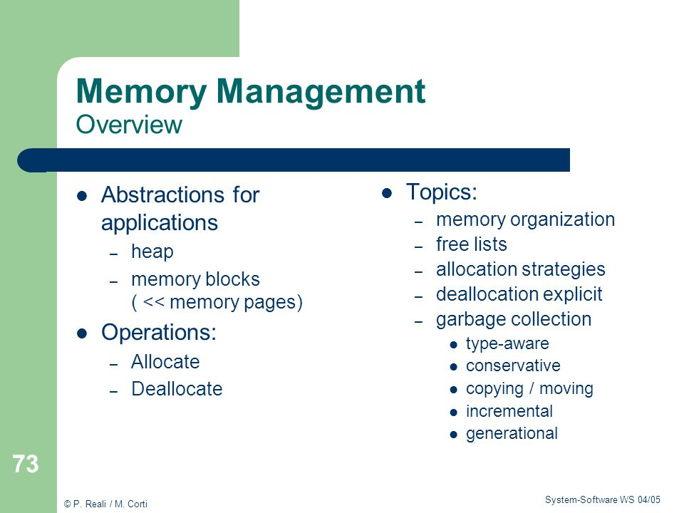 Memory Management Overview