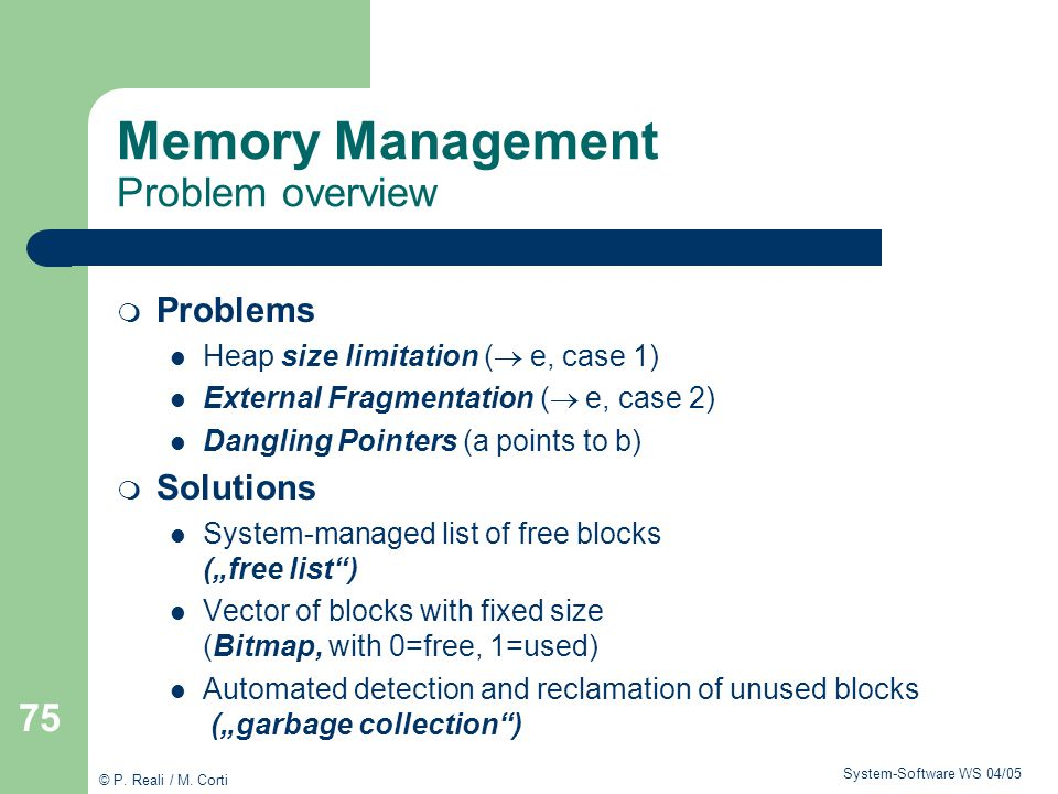 Memory Management Problem overview