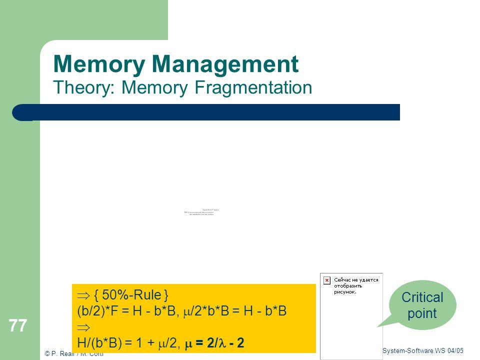 Memory Management Theory: Memory Fragmentation
