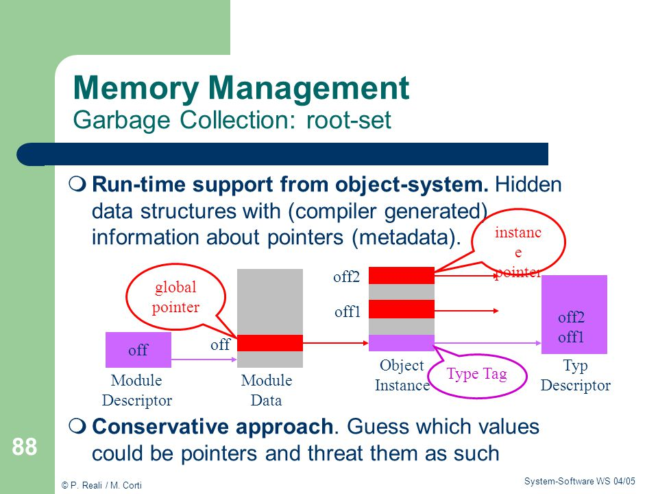 Memory Management Garbage Collection: root-set