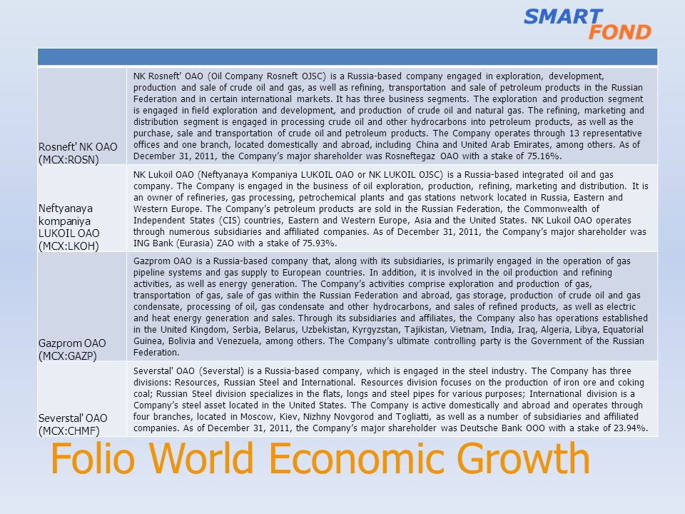 Folio World Economic Growth
