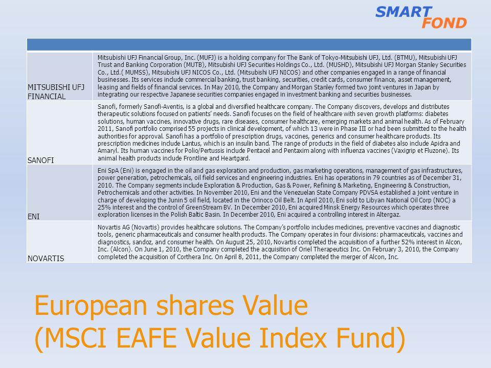 European shares Value (MSCI EAFE Value Index Fund)