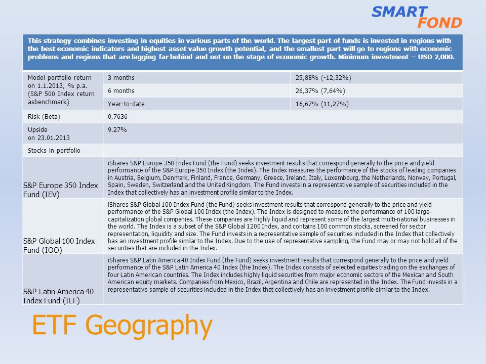 ETF Geography S&P Europe 350 Index Fund (IEV)