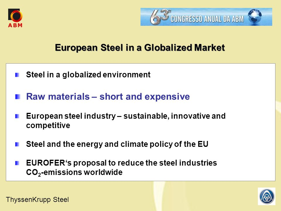 European Steel in a Globalized Market