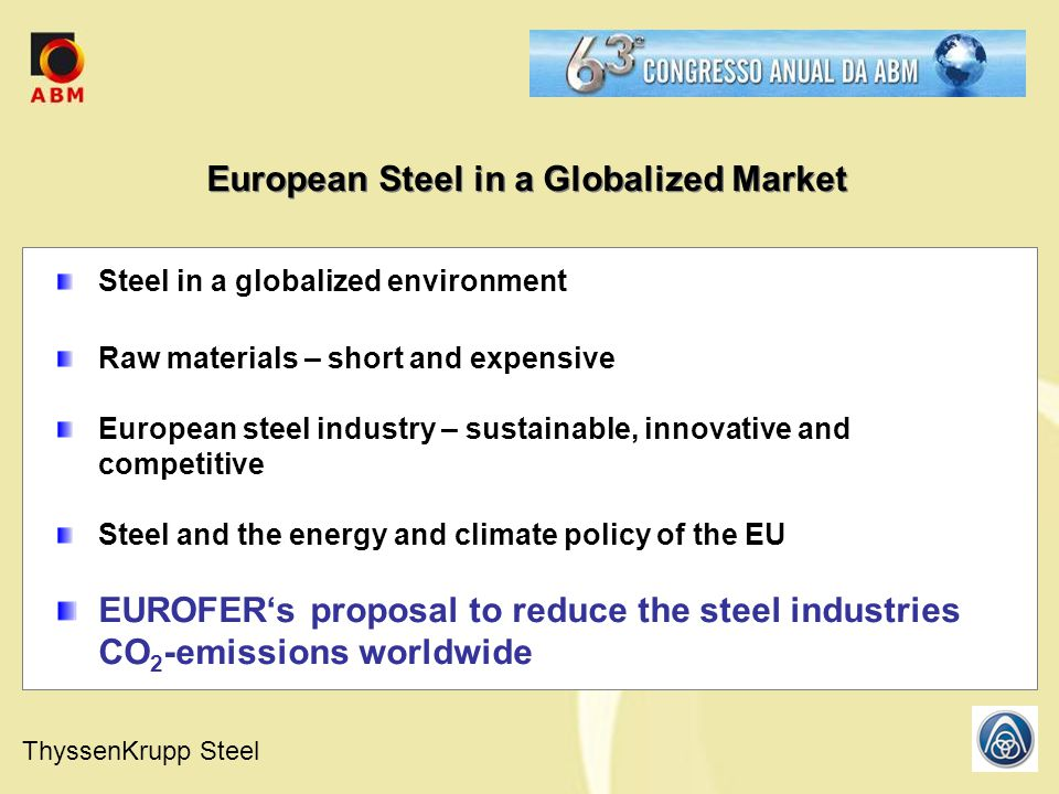 European Steel in a Globalized Market