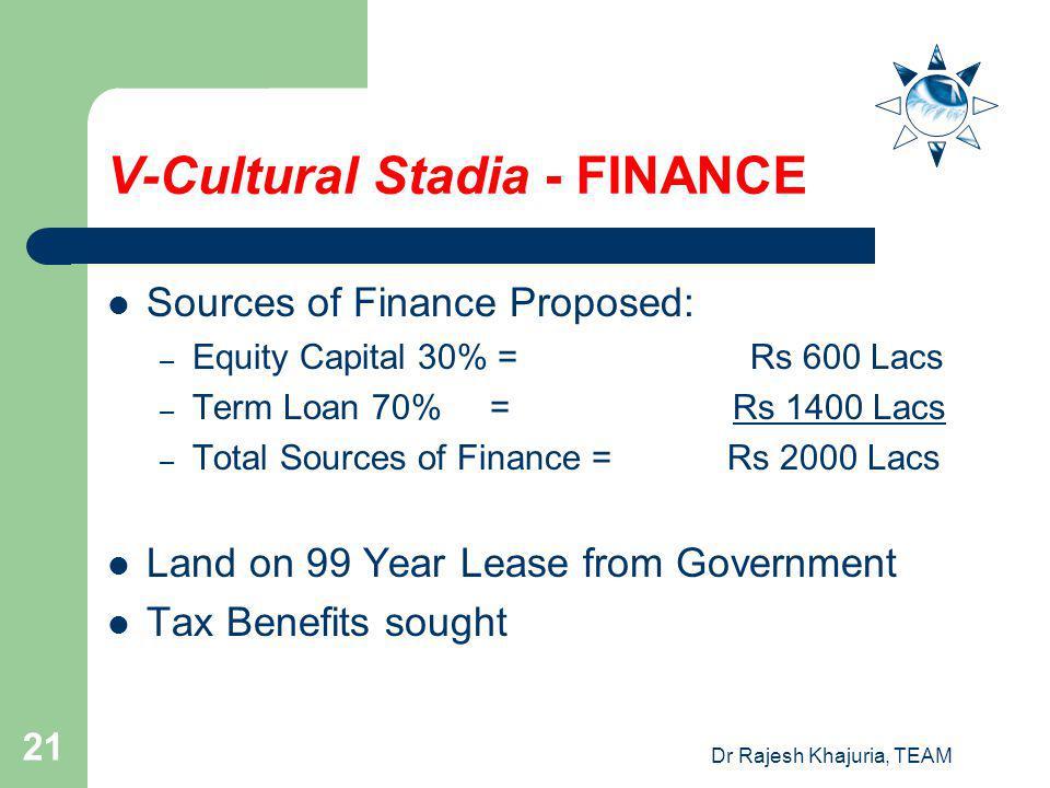 V-Cultural Stadia - FINANCE