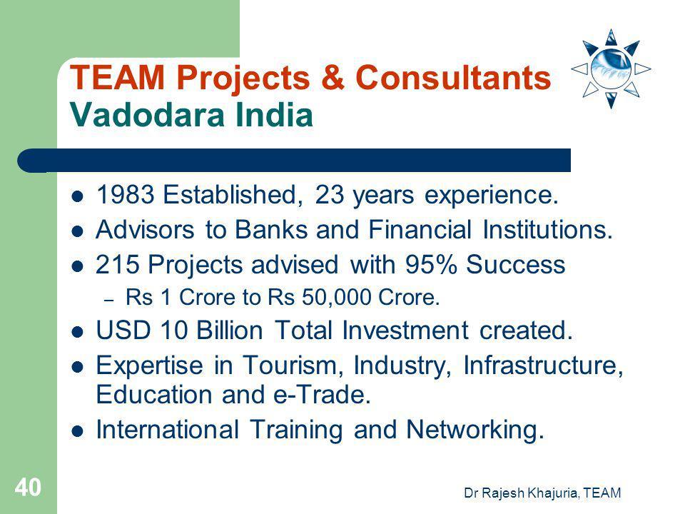 TEAM Projects & Consultants Vadodara India