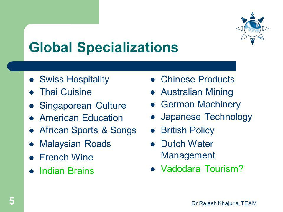 Global Specializations