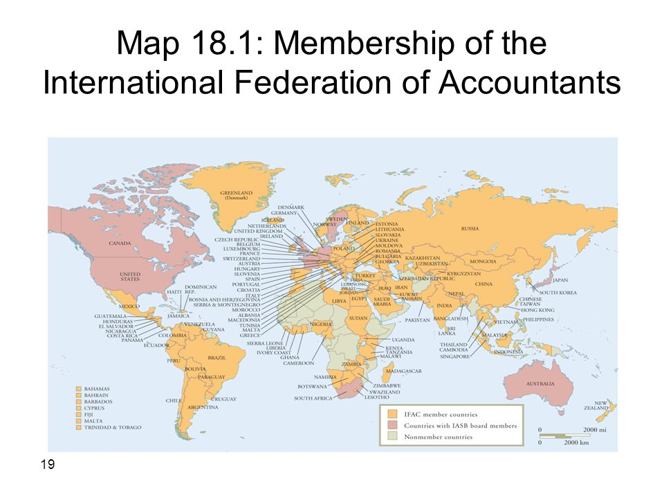 Map 18.1: Membership of the International Federation of Accountants