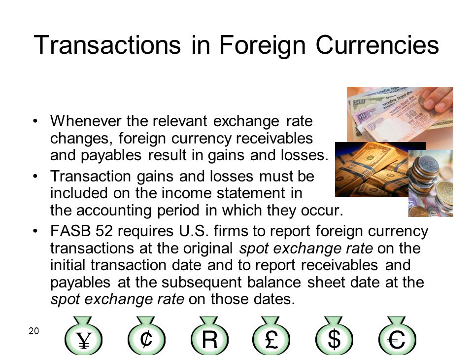 Transactions in Foreign Currencies