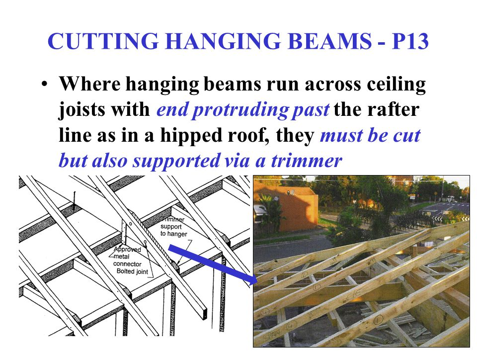CUTTING HANGING BEAMS - P13