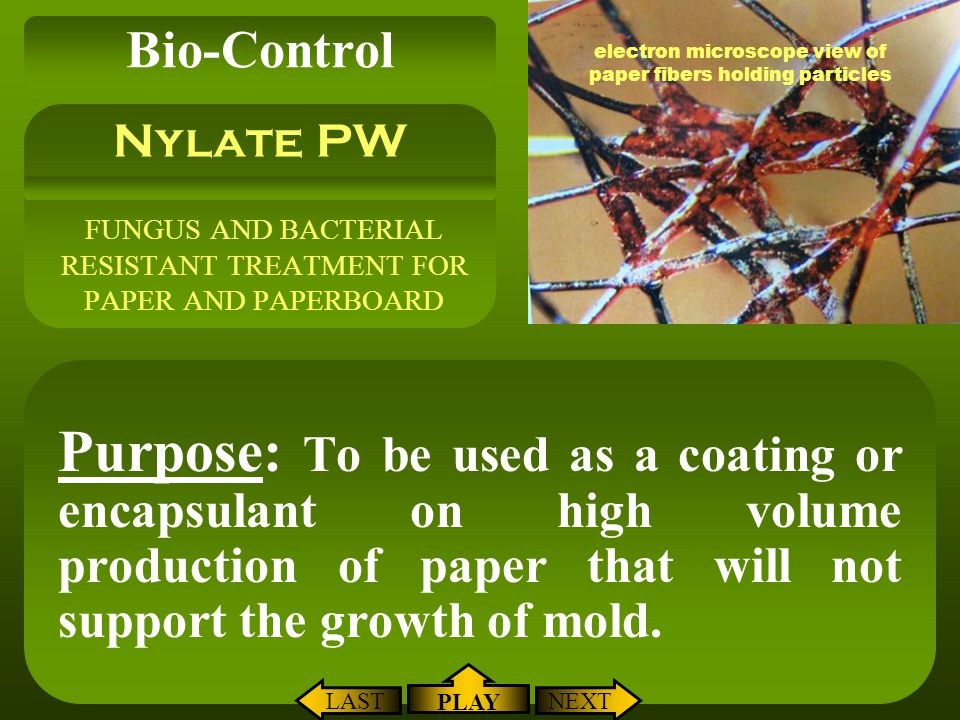 FUNGUS AND BACTERIAL RESISTANT TREATMENT FOR PAPER AND PAPERBOARD