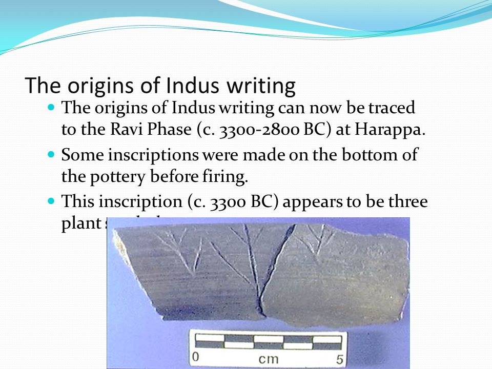 The origins of Indus writing