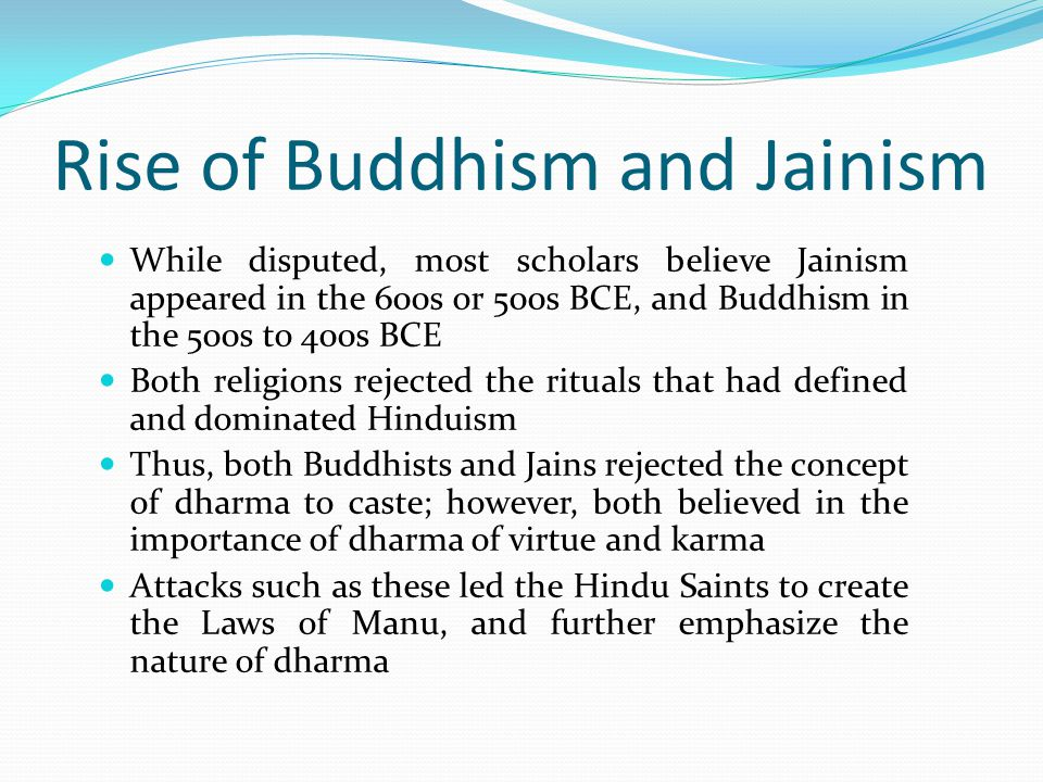 Rise of Buddhism and Jainism