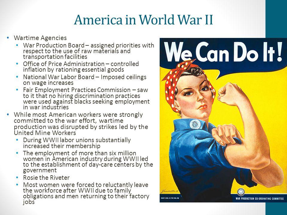 America in World War II Wartime Agencies