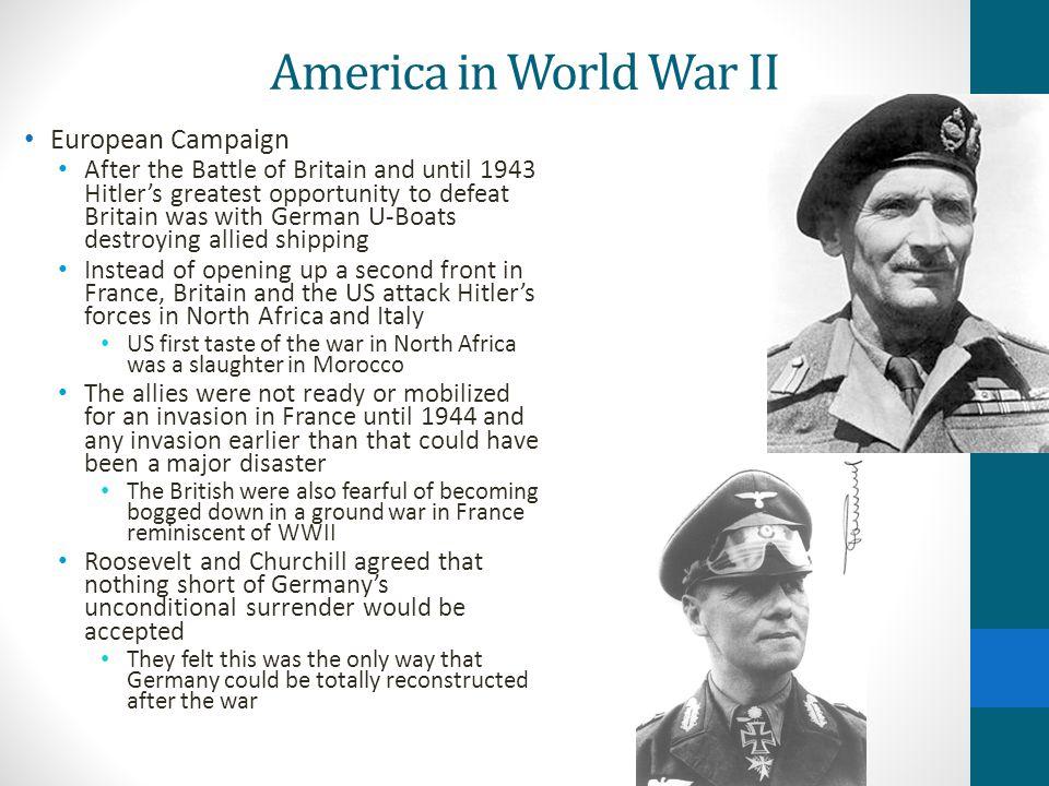 America in World War II European Campaign