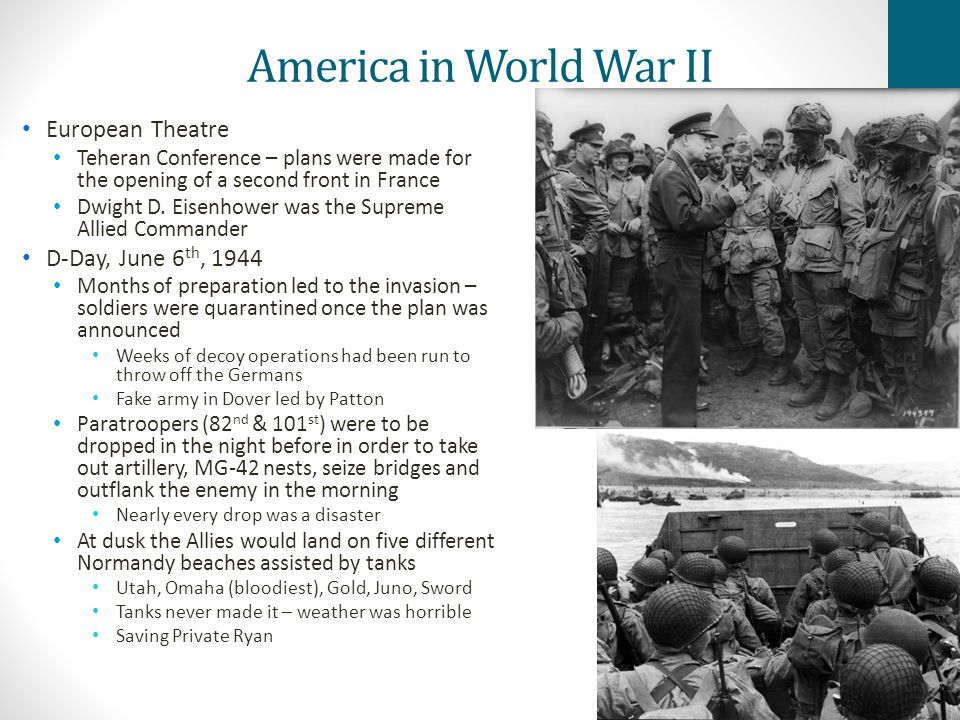 America in World War II European Theatre D-Day, June 6th, 1944