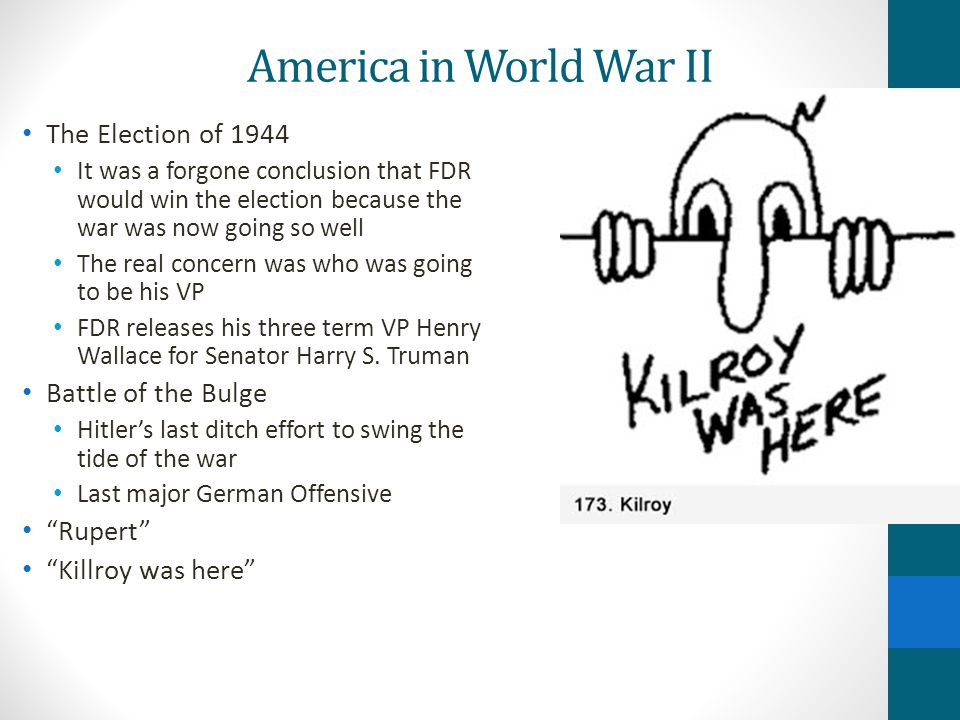 America in World War II The Election of 1944 Battle of the Bulge