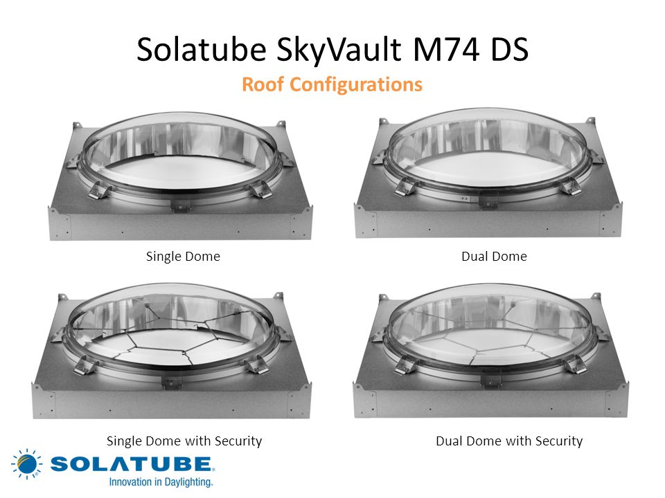 Solatube SkyVault M74 DS Roof Configurations