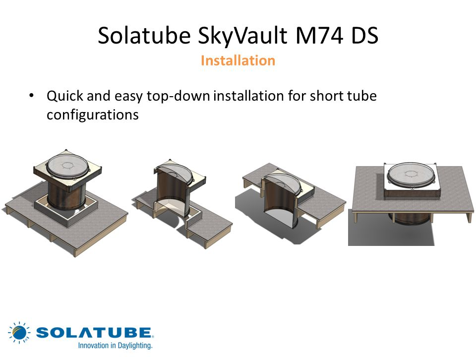 Solatube SkyVault M74 DS Installation
