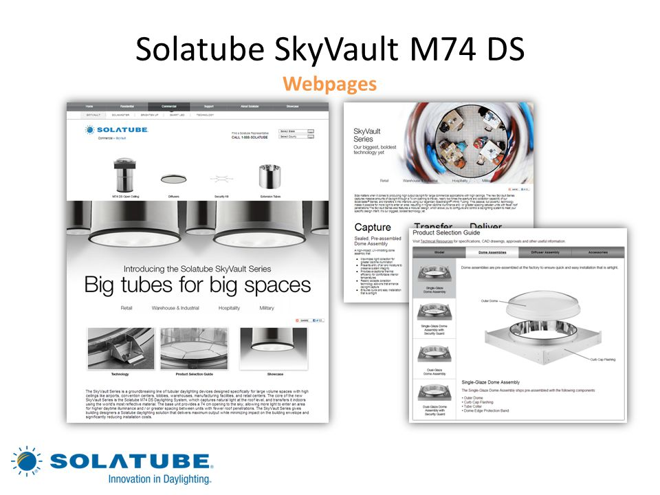 Solatube SkyVault M74 DS Webpages