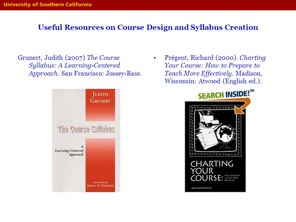 Useful Resources on Course Design and Syllabus Creation