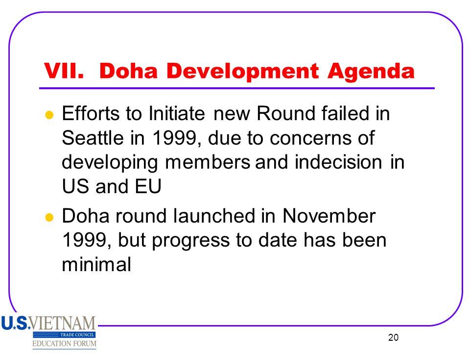 VII. Doha Development Agenda
